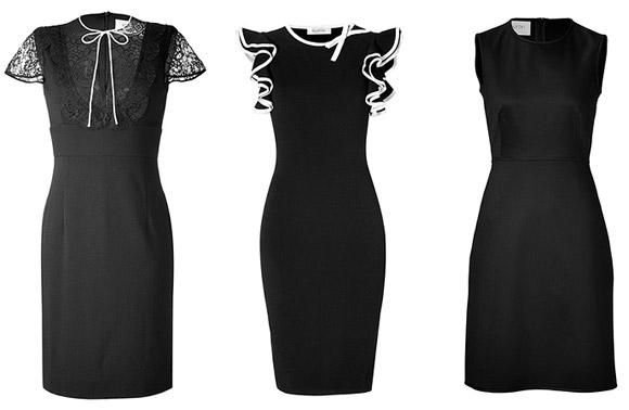 Черные деловые платья 2011-2012.